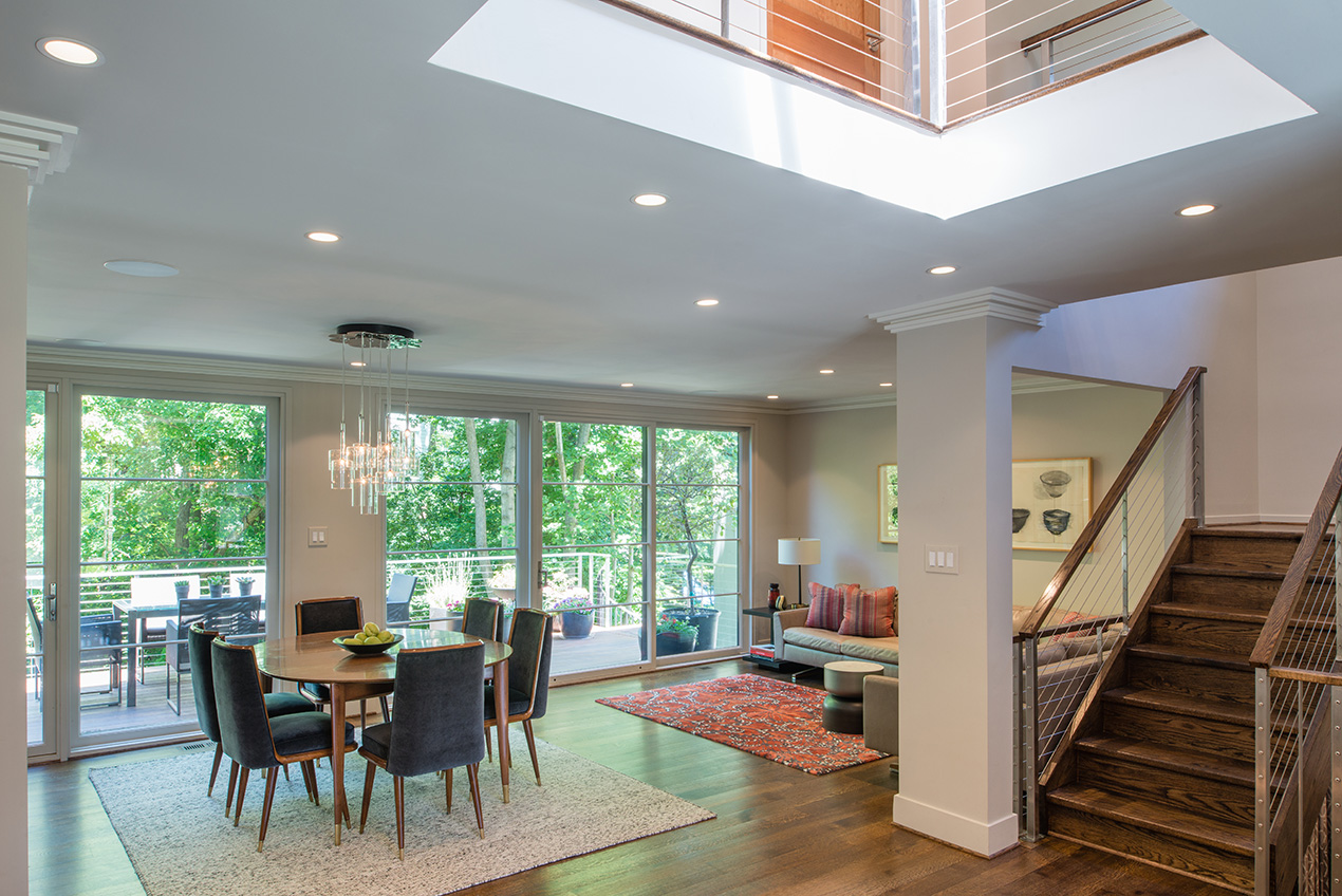 Open floor plan creates a wonderful airy feel