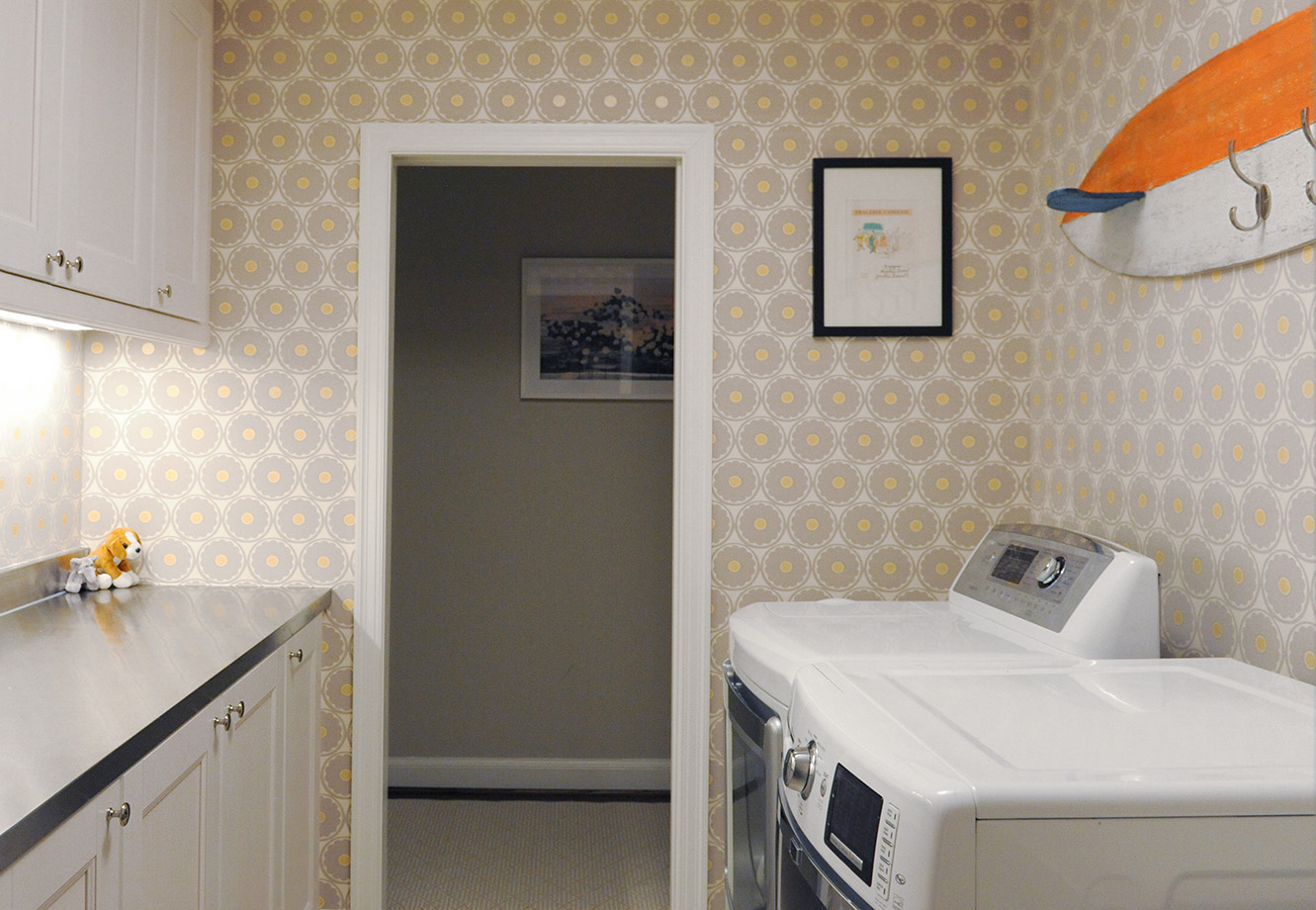 Surf's up in this easy access laundry room
