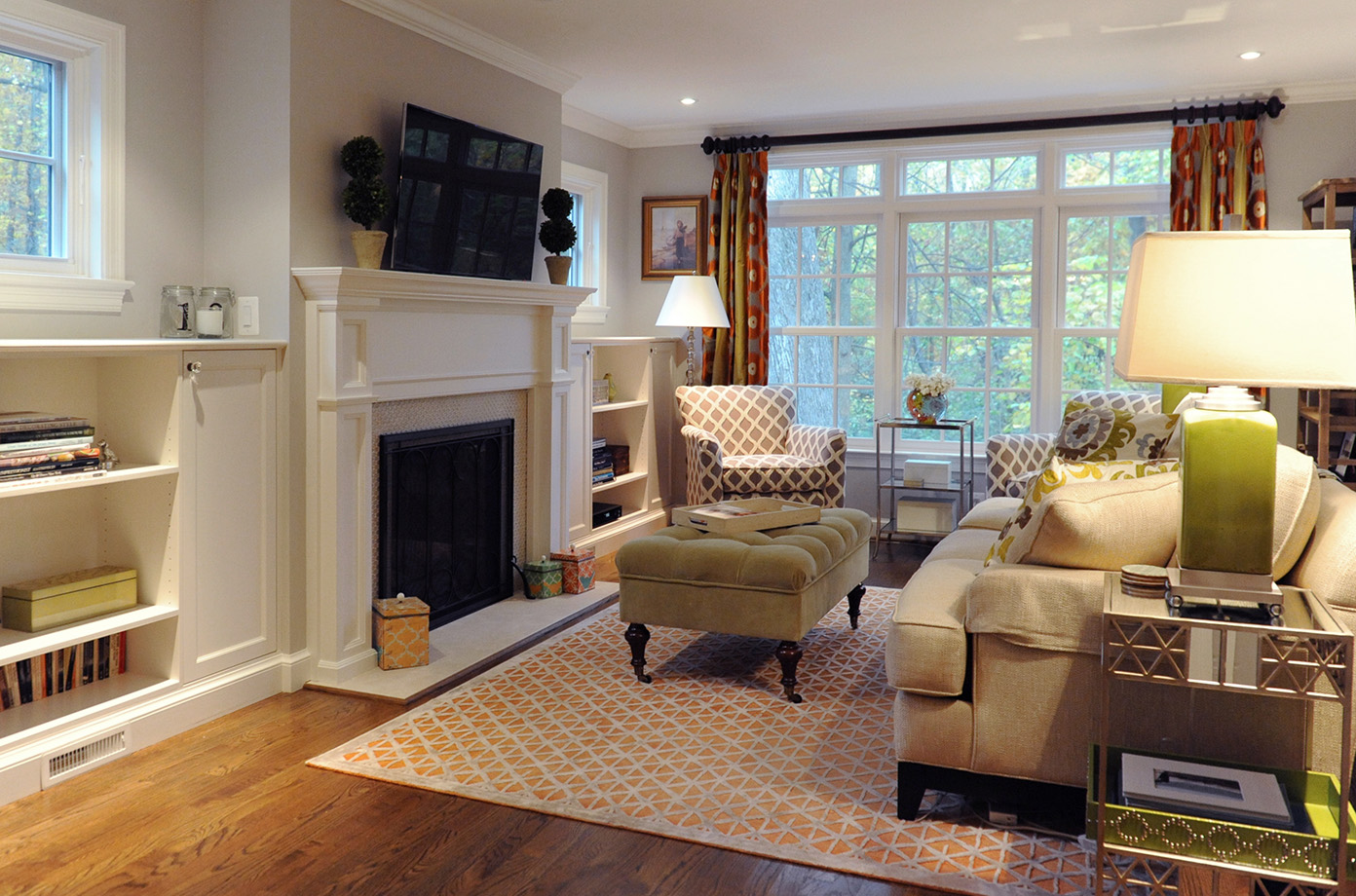 Comfort and coziness in this Colonial living room