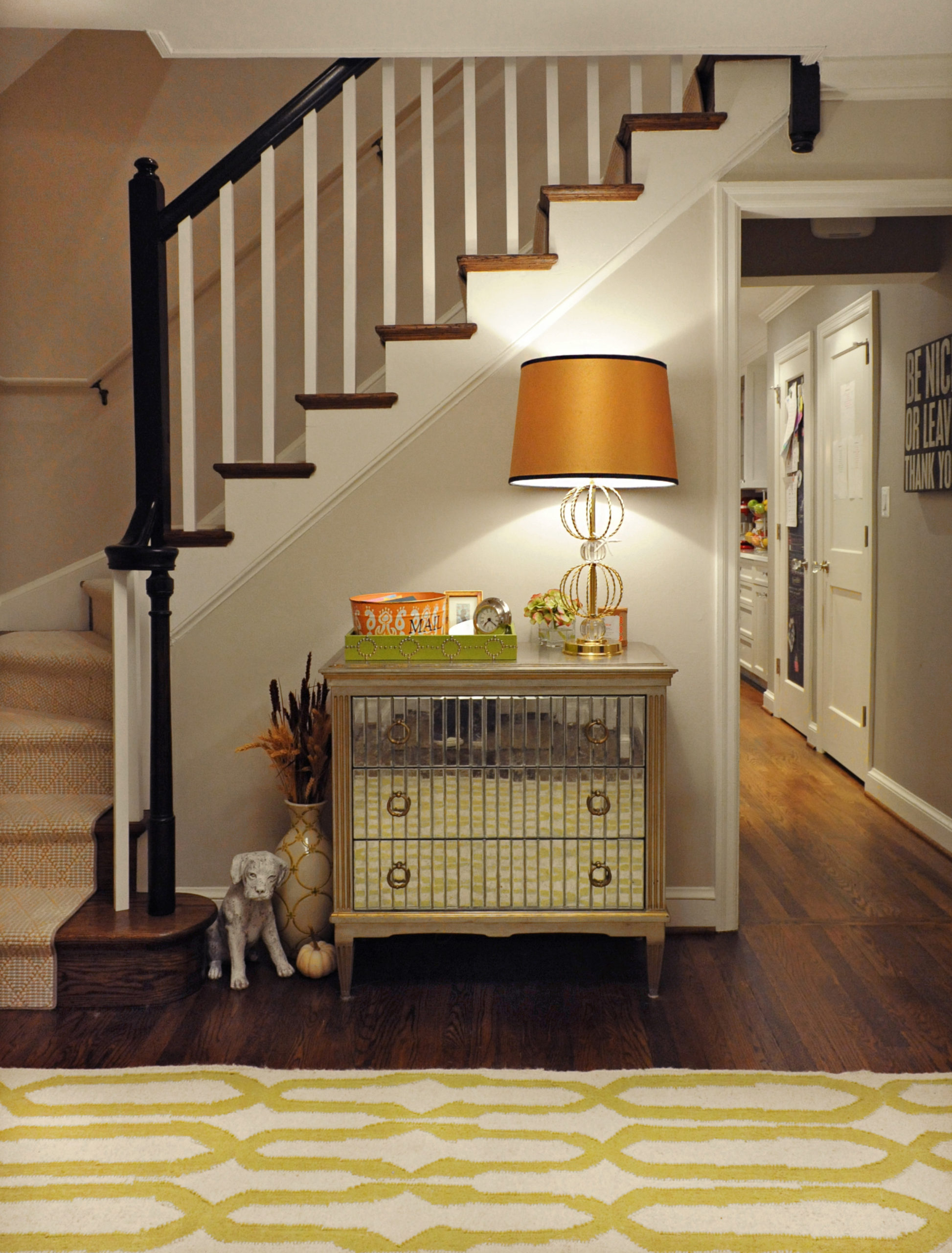 A warm and inviting entry foyer