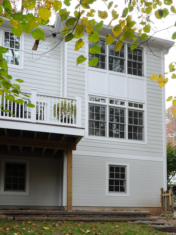 Colonial exterior addition