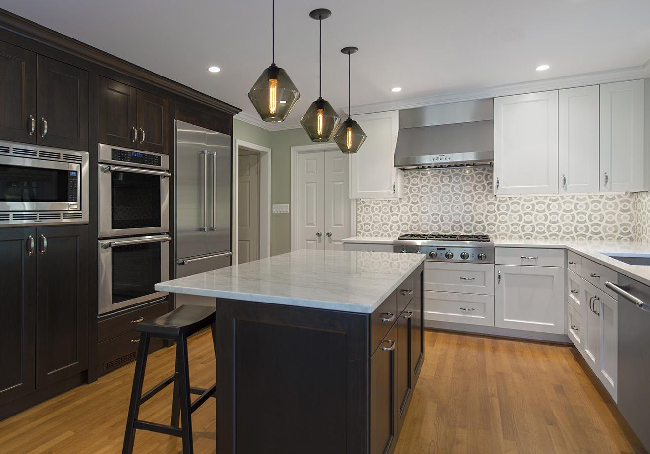 Kitchen renovation with island