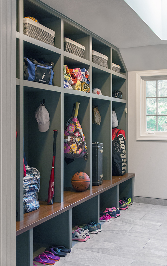 Storage area keeps things in order